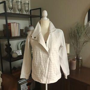 LULULEMON White Zip Up Jacket Sz 8